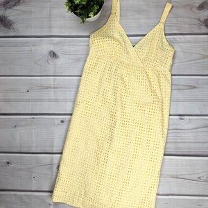 a.n.a. | Pale Yellow Eyelet Dress